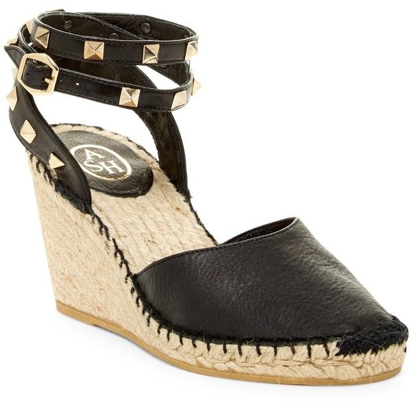 09b014b6751 Ash Winona Studded Espadrille Wedge Sandal (17210 ALL) ❤ liked on Polyvore  featuring shoes