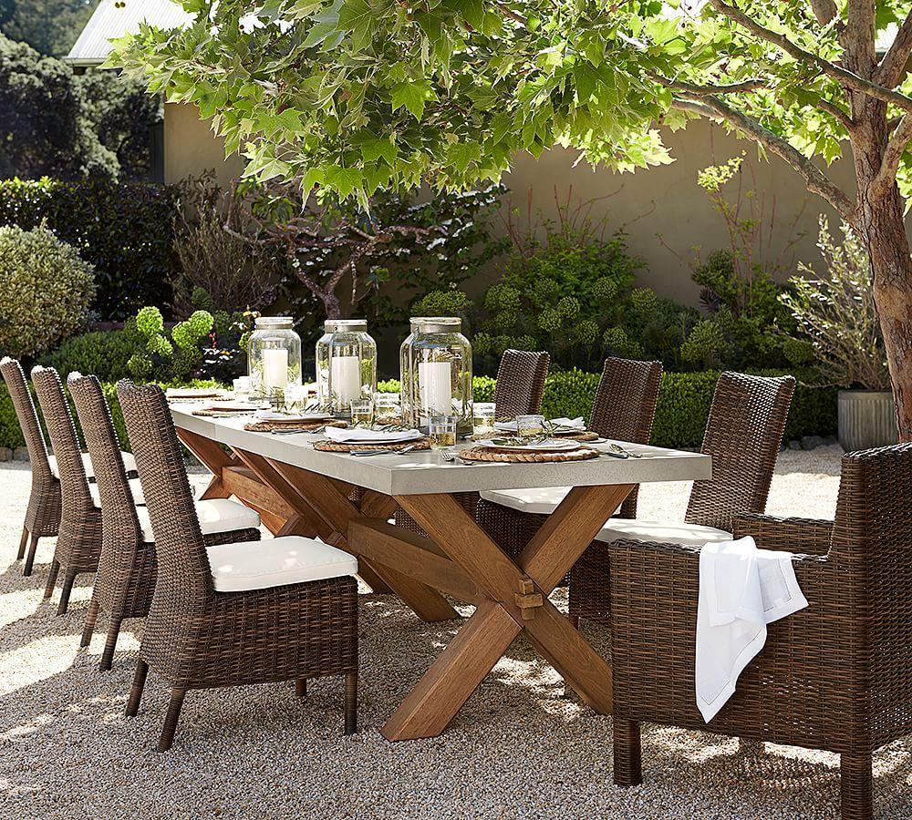 Zinc Outdoor Dining Table Rectangular