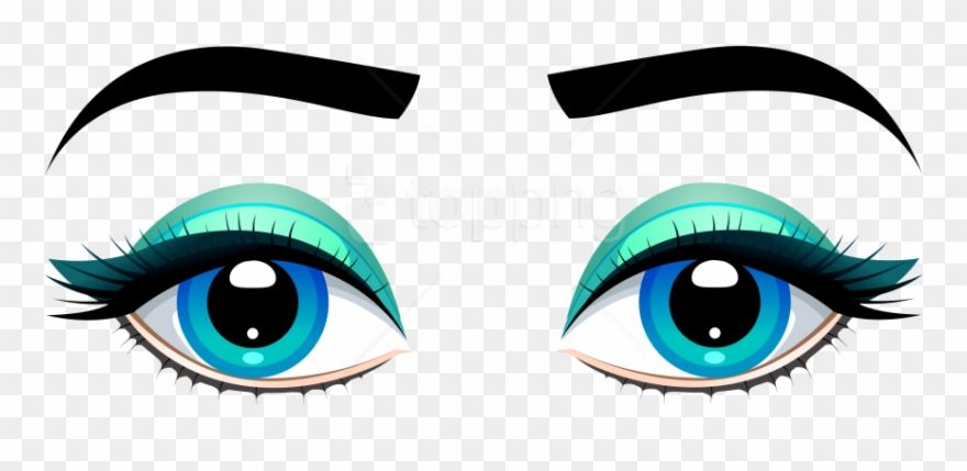Free Png Download Female Blue Eyes With Eyebrows Clipart Transparent Background Brown Eyes Clipart Eyes Clipart Free Png Free Png Downloads