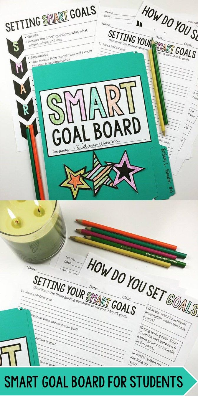 Smart Goal Board For Grade 5 12 Beginning Or End Of School Year Activity Teaching Schools Mirroring And Paraphrasing