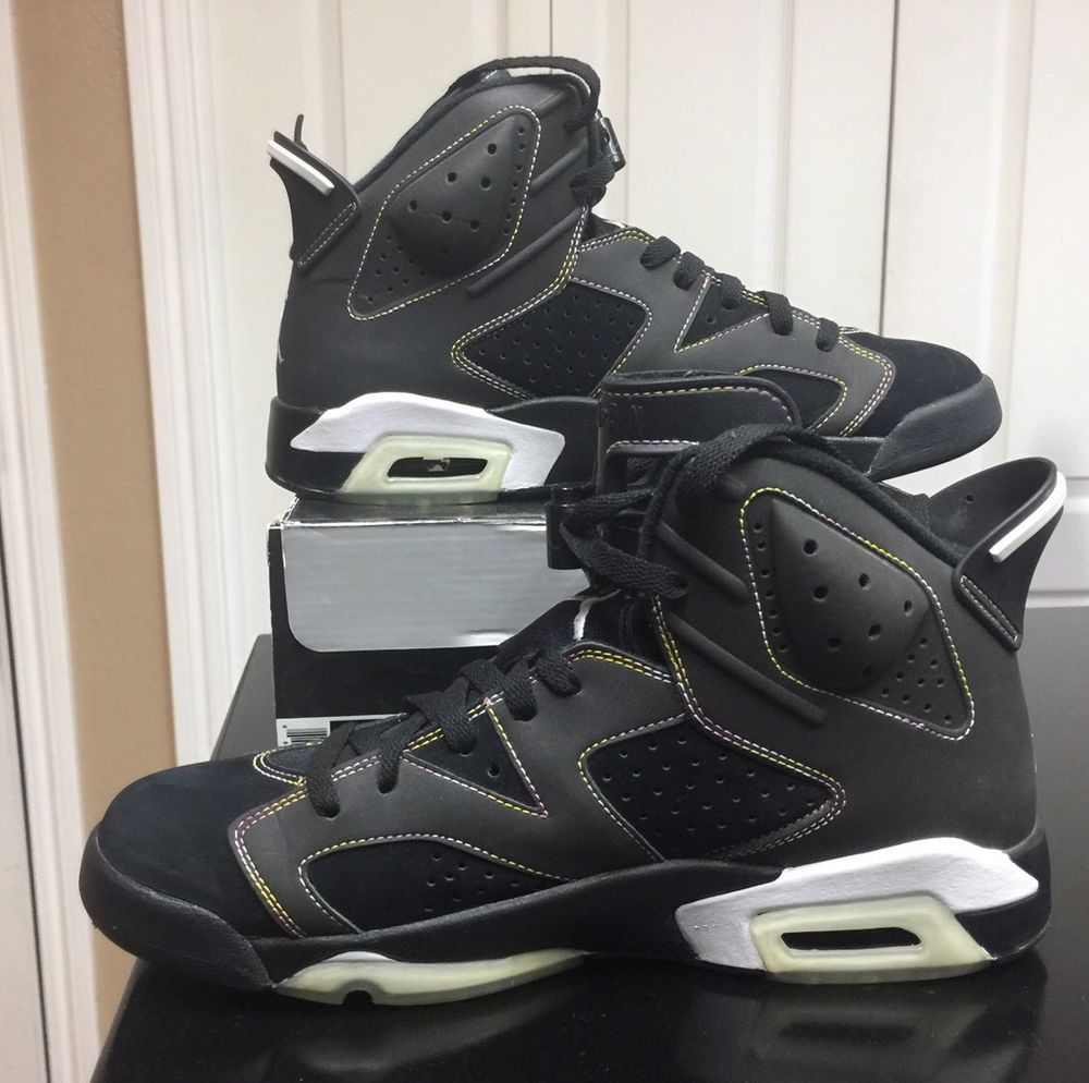 best service c013a 90f49 Details about RARE🔥 Nike Air Jordan VI 6 Retro Lakers Black ...