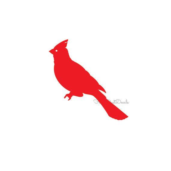 Cardinal Decal Vinyl Bird Sticker Red Cardinal Decal Cardinal Sticker Bird Decal Wall Decor Decal Red Bird