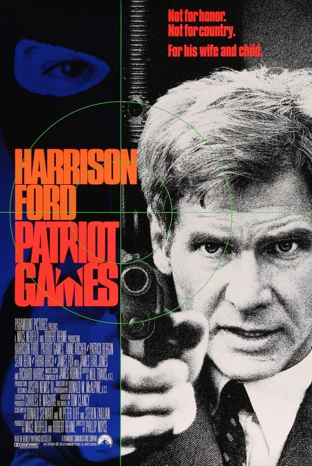 Patriot Games (1992) | Patriots game, Harrison ford, Movie game