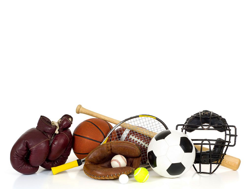 Sports Equipment On White Kids Sports Gear Fun Sports Athletic Scholarships