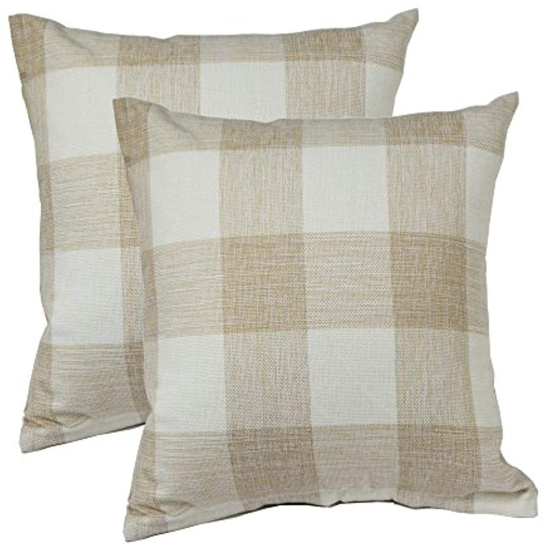 "Set of 2 White Modern Circles Rings Geometric Cushion Cover Pillow Covers 16x16/"""