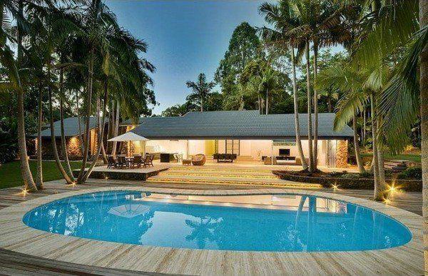 Most Beautiful Backyard Pools Ideas Oval Pool Design Pool Deck Ideas