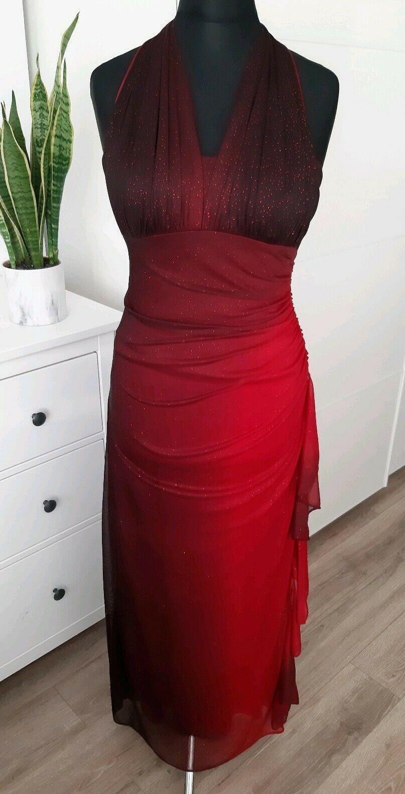 Atemberaubendes Kleid in Rot Gr. 20 (M) – Gr. 20 (L) Schimmer