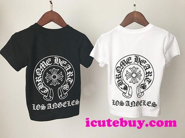 4821595c9f1c63 2018年新品 CHROME HEARTS 子供tシャツ 白 黒 クロムハーツ キッズウェア ...