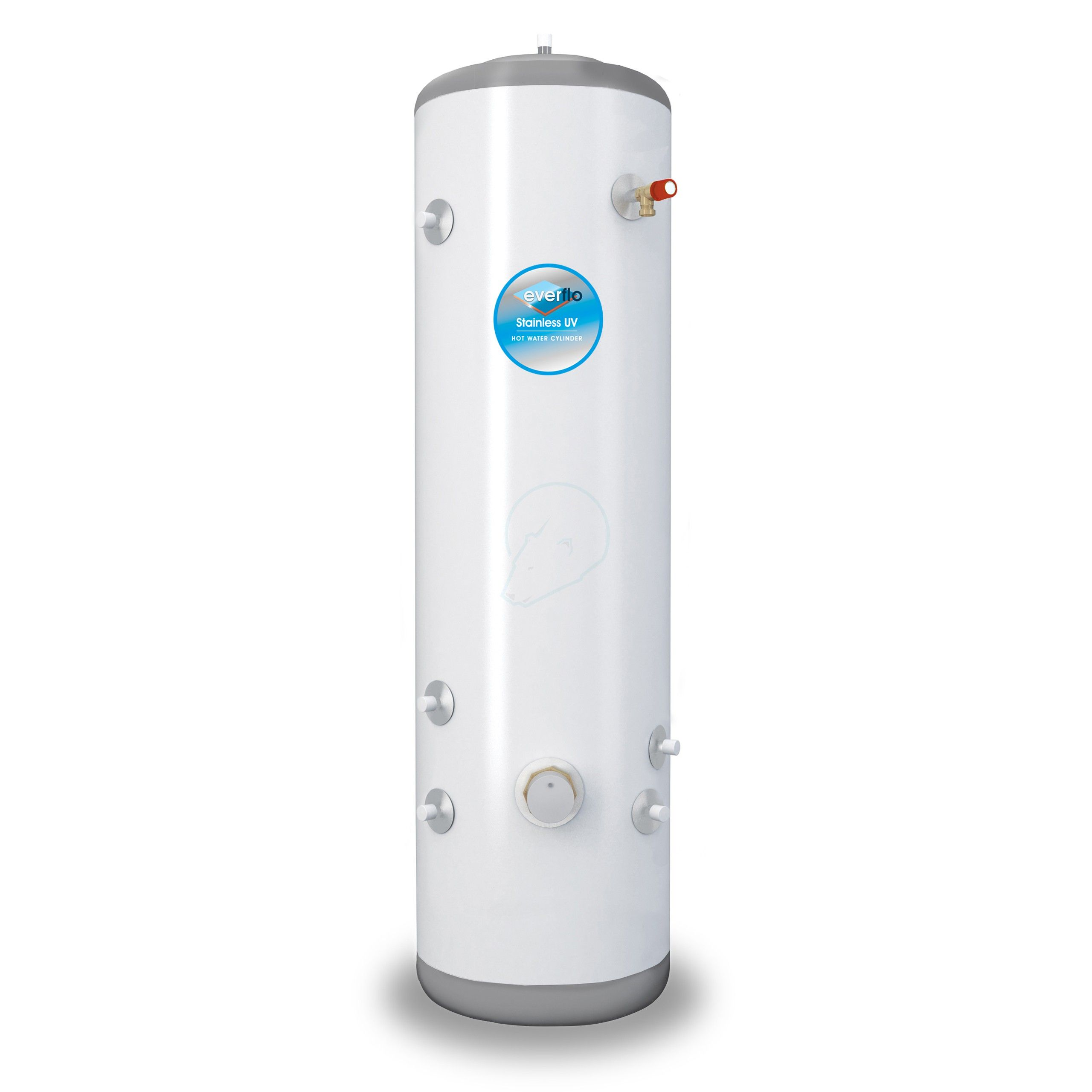 everflo Stainless 150L Slim-Fit Indirect Unvented Hot Water Storage ...