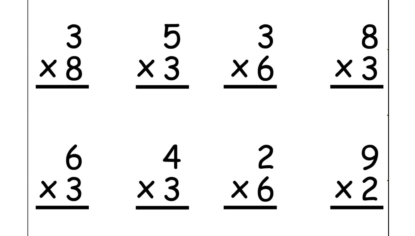 Single Digit Multiplication - 16 problems on each worksheet - Five Worksheets