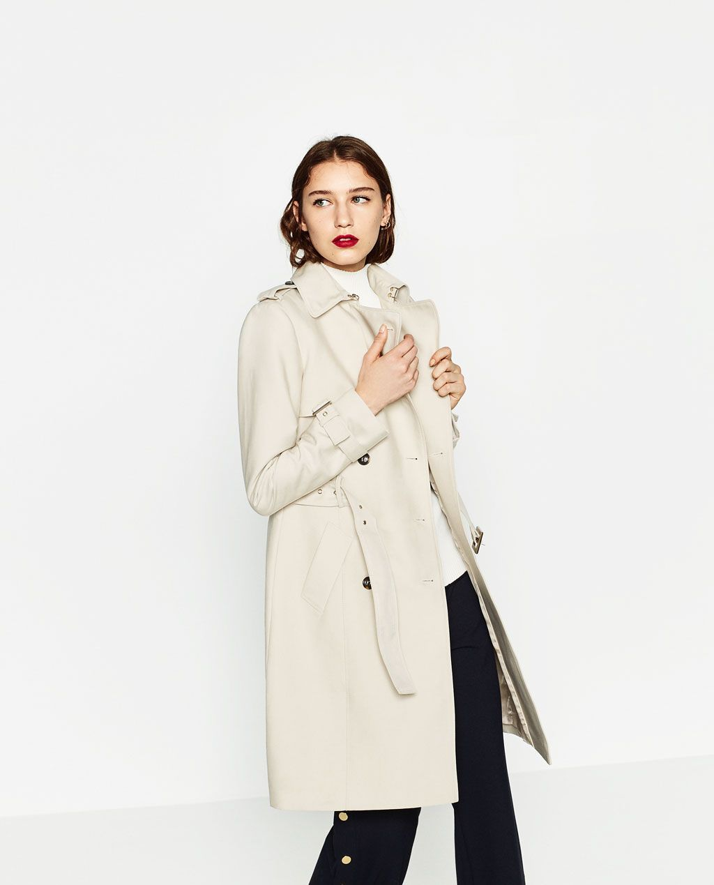 Image 4 of WATER RESISTANT TRENCH COAT from Zara