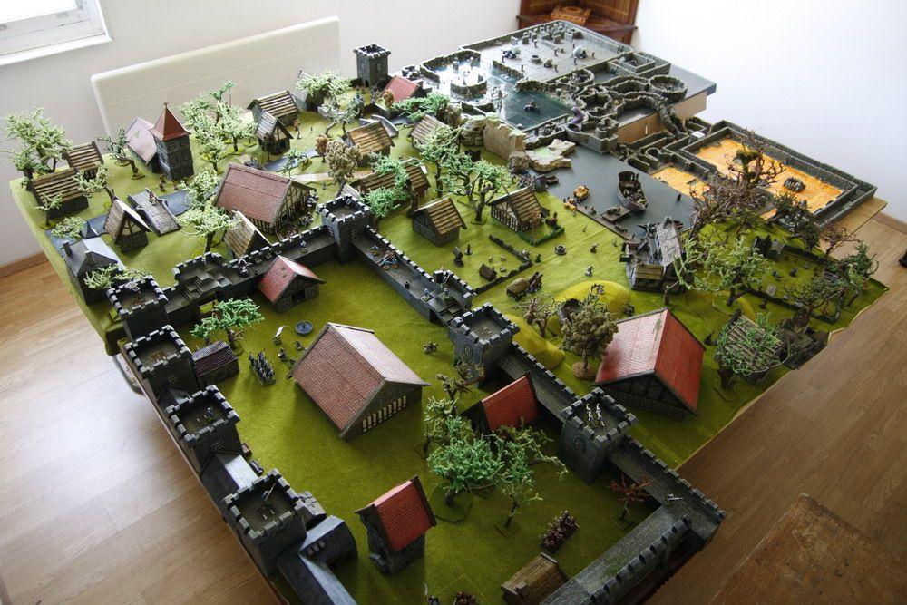Une table de 9m table dwarven forge rpg terrain for Decor 40k