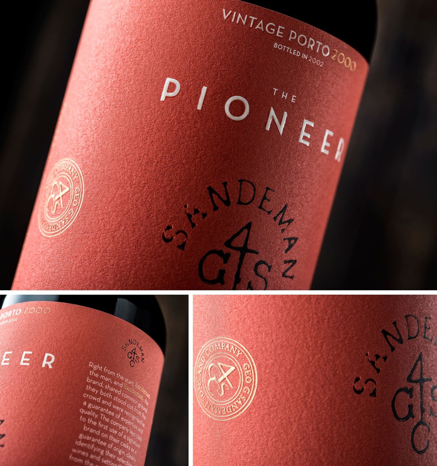 Sandeman 225th Anniversary Collection Creative Packaging Design Packaging Design Inspiration Simple Packaging