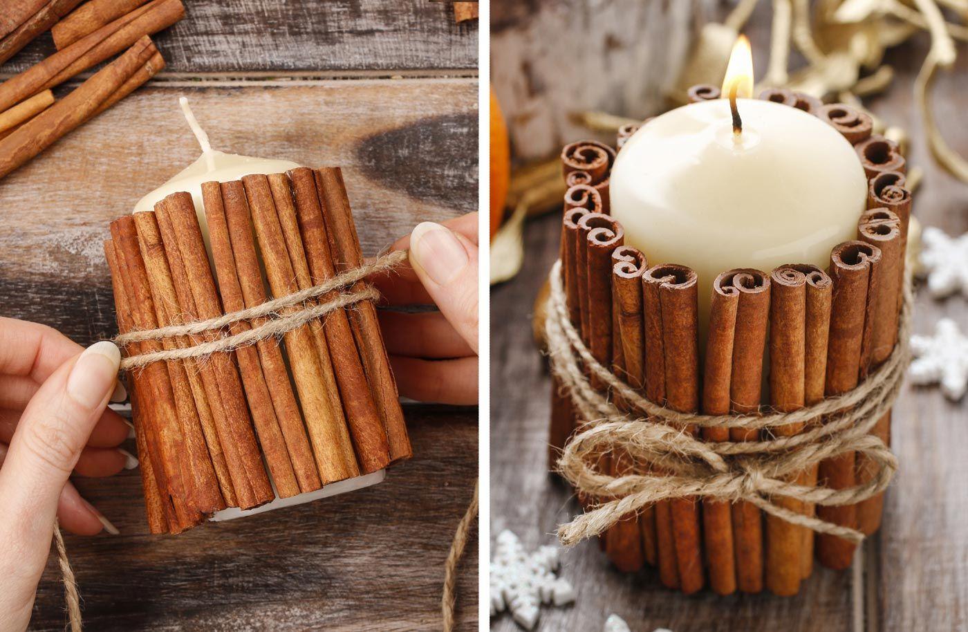 So Schon Und So Einfach Kerzen Diy Mit Zimt Tischdeko Weihnachten Kerzen Selber Machen Und Winterhochzeit