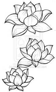 Japanese Lotus Drawings Lotus Blossom Tattoos Flower Drawing Flower Sketches