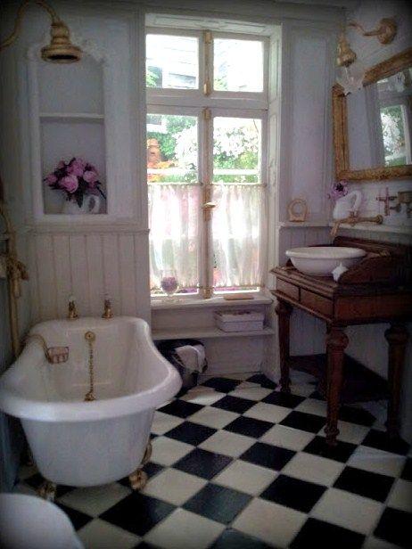 Der Anbau Entsteht Miniatur Zimmer Haus Puppenhaus