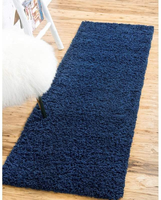 Andover Mills Falmouth Sapphire Blue Area Rug Unique Loom Navy Blue Runner Area Rugs