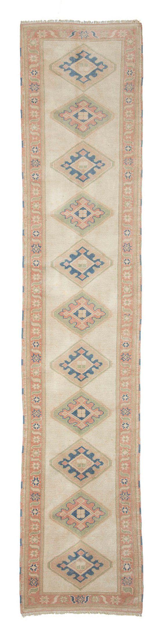 Carpet Runner,375x78cm,12.3x2.6 ft,Oushak runner rug