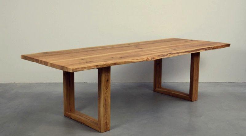 Bancone In Legno Costruito Artigianalmente : Sconto outlet 30% per il tavolo in legno di castagno lee บ้าน