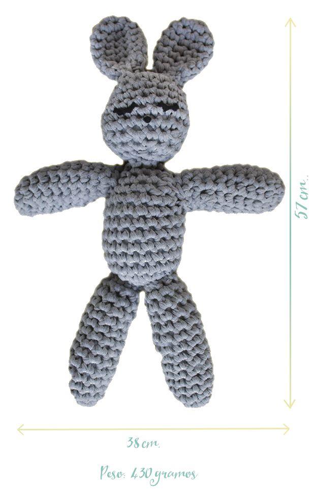 medidas   crochet bunnies free pattern   Pinterest   Conejo ...