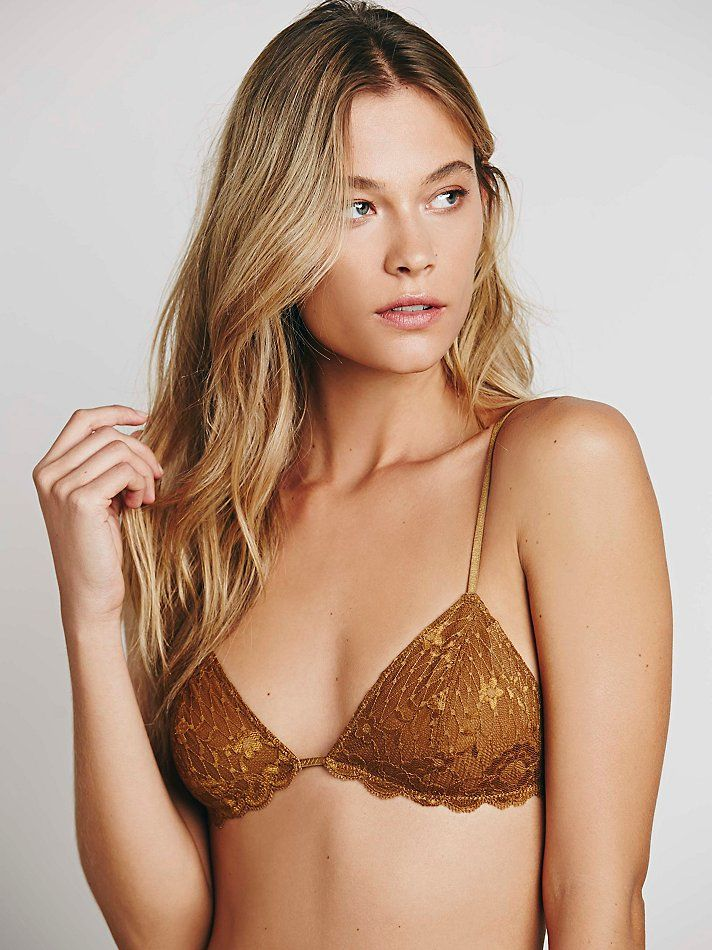 4cf90272f72 Intimately Womens Essential Triangle Bra in Brown (Amber Glow ...