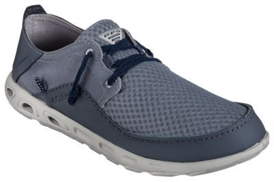 64bce577b799 Columbia Bahama Vent Relaxed Marlin PFG Boat Shoes for Men - Grey  Ash Collegiate Navy - 9.5 M