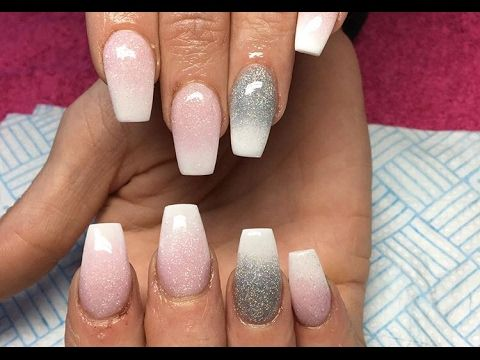Acrylic nails pink and white ombre cjp nails pinterest acrylic nails pink and white ombre cjp prinsesfo Images