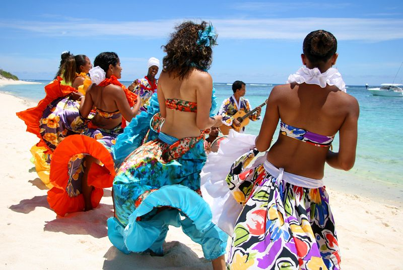 "Sega dance in Mauritius: before turning into a ""typically Creole dance"", Sega was a traditional dance in some parts of the Philippines and Indonesia, particularly in the eastern islands. This dance was similar to the Polynesian Hula and the wonderful dresses was the result of the Hispanic influence. It was assimilated in Malagasy culture and called ""Sega"", and spread to Seychelles, Reunion and Mauritius due to migrations and slavery, but also in South-America and the Caribbeans."