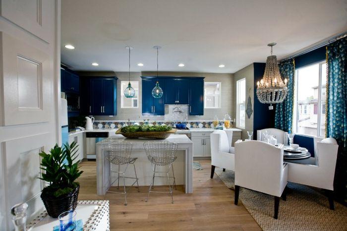 ▷ 1001+ idées pour la décoration d\u0027une chambre bleu paon Salons
