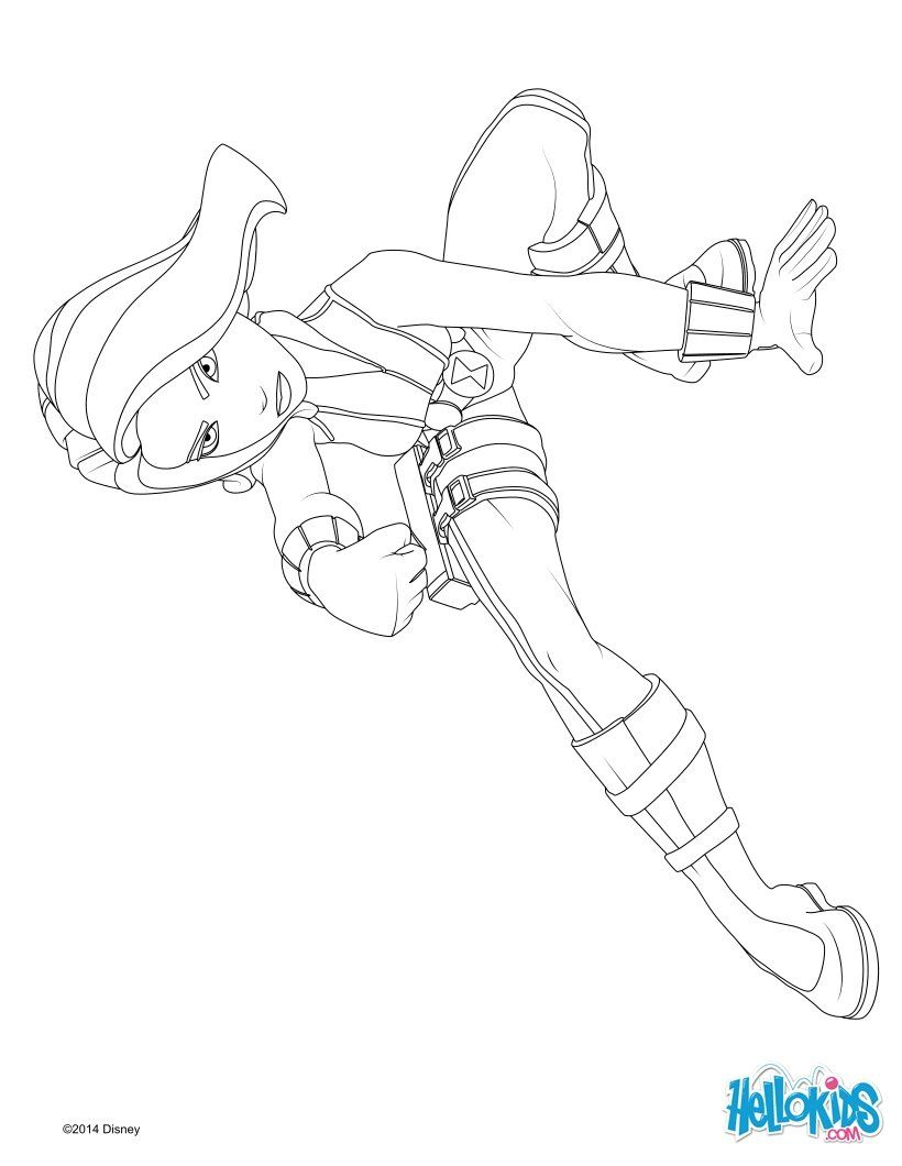 Black Widow coloring page | Coloring-Superheros | Pinterest | Black ...