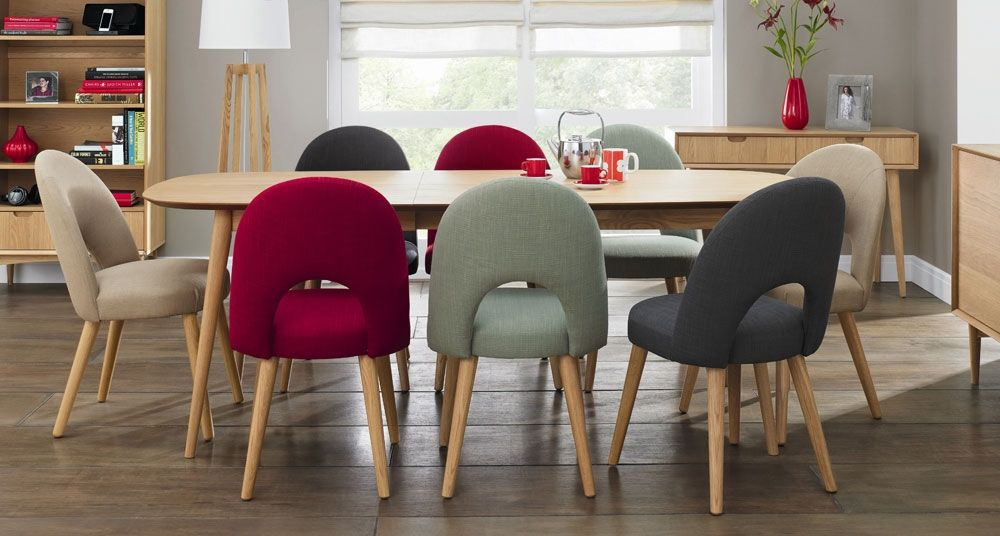 Oslo Oak Extension Dining Table Extensive Choice Of 6 Or 8 Chairs Veneer Back From Your Furniture Online