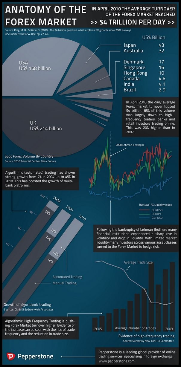 Anatomy Of The Forex Market Infographic America Australia Brazil