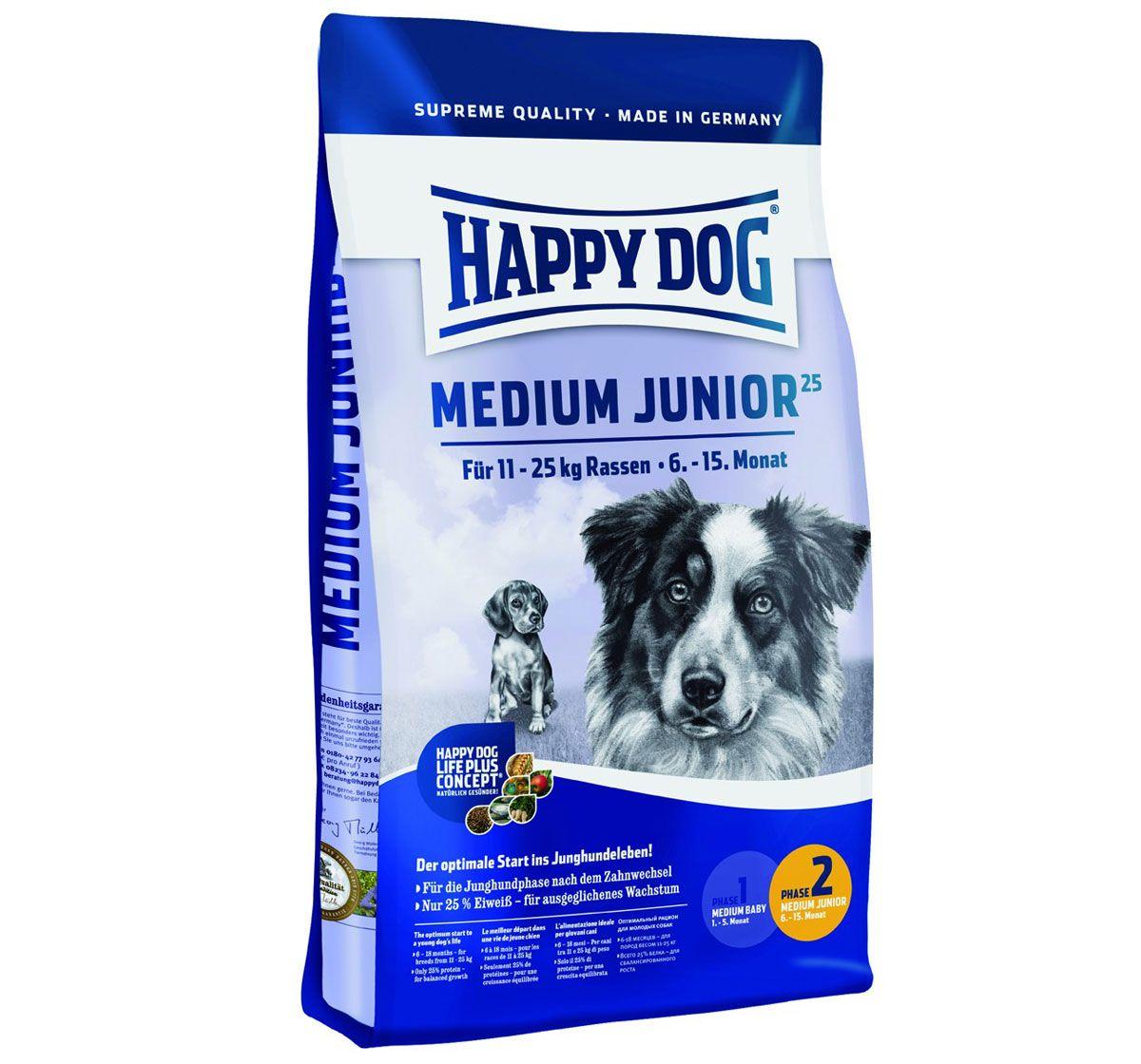 Happy Dog Medium Breed Junior Dog Food 1 Kg Buy Dog Food Online
