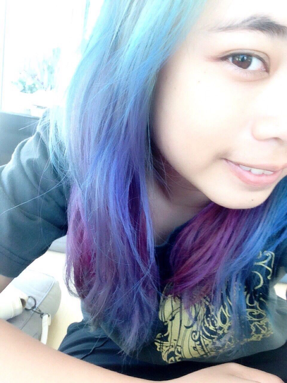 turquoise blue purple ;)