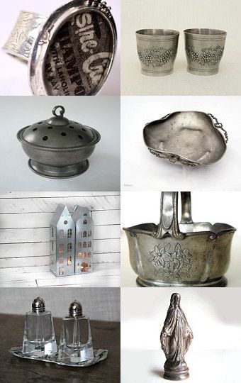 Silver Metal by Créations Olfée - Annie on Etsy--Pinned with TreasuryPin.com