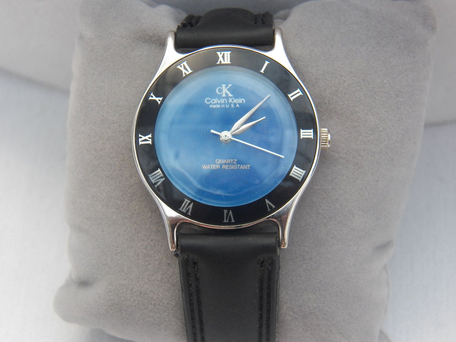 super retro authentic calvin klein mood watch retro mans super retro authentic calvin klein mood watch retro mans accessory 70 s 80 s mens jewelry accessory leather band usa made