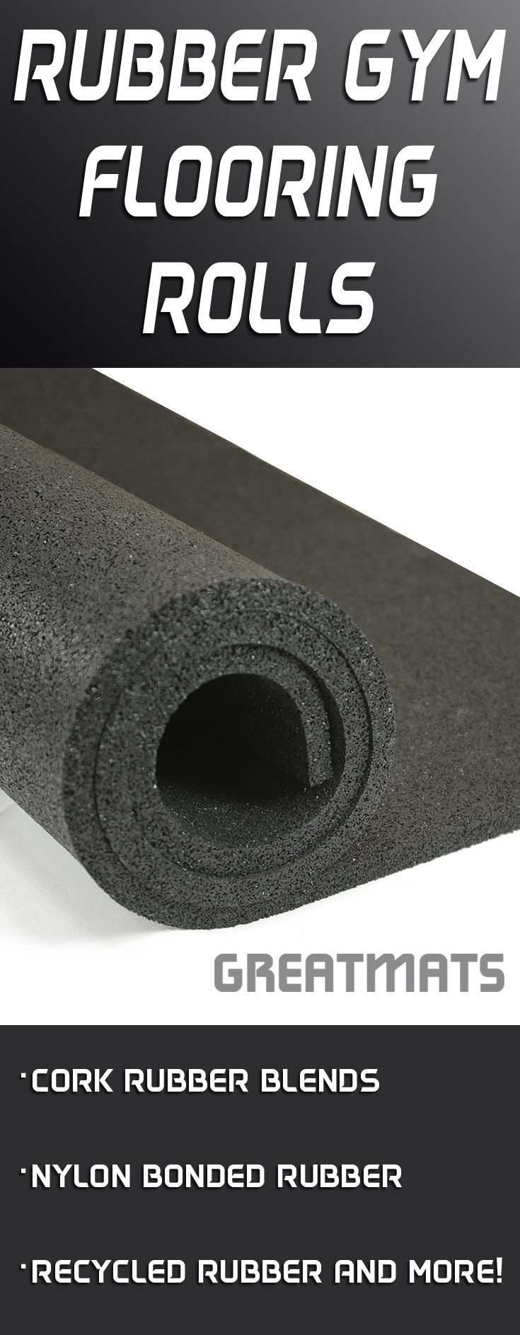 Greatmats has a huge selection of rubber gym flooring