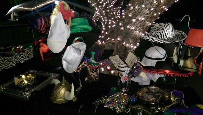 Tree lighting adds perfect ambience to prop table