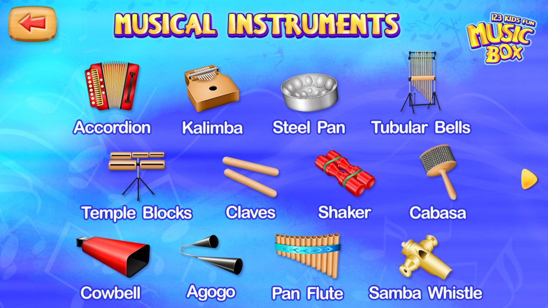 Musical instruments app appforkids kalimba preschoolers