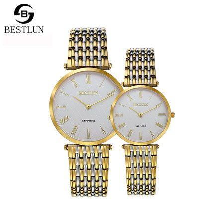 đồng hồ đôi mạ vàng bestlun