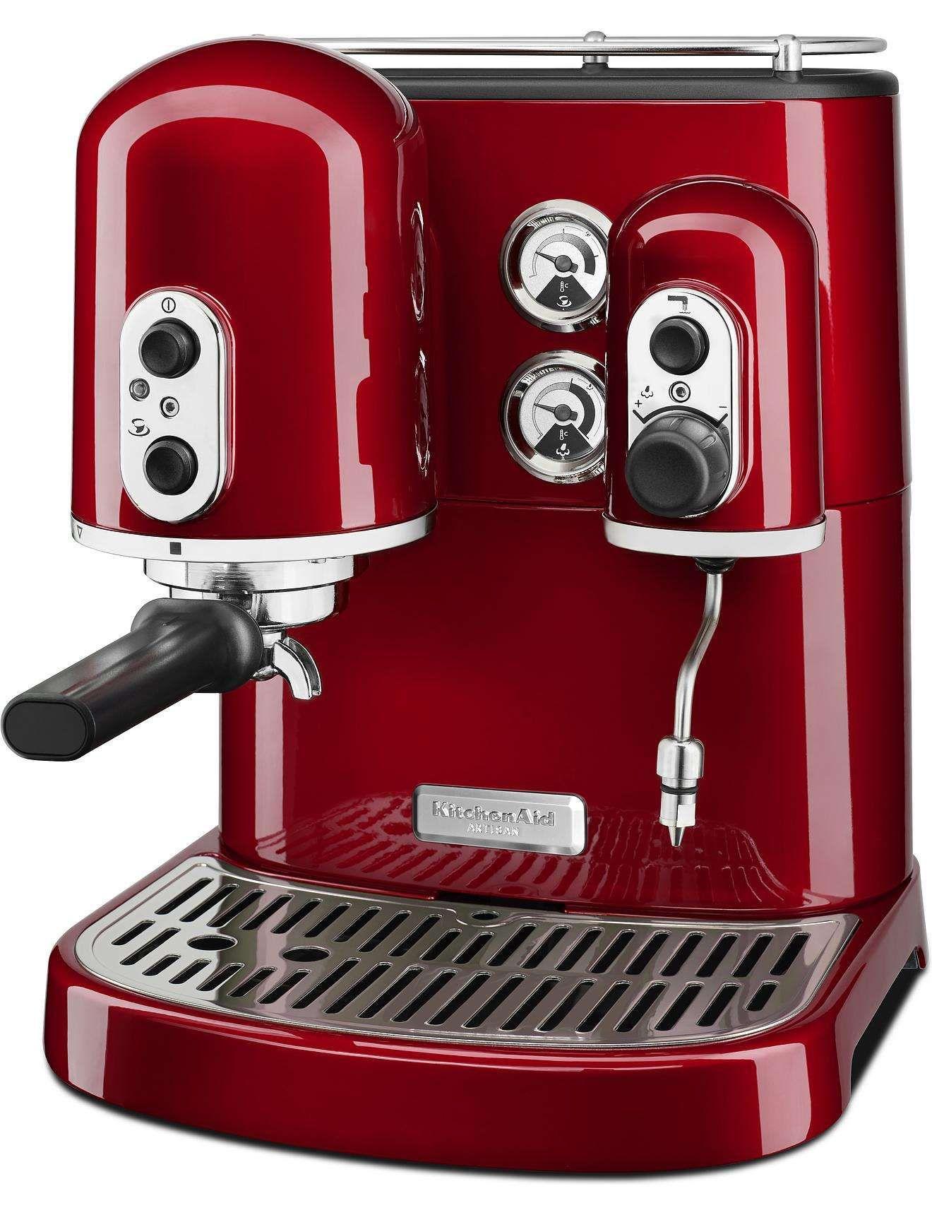 Kes2102 espresso machine candy apple red david jones