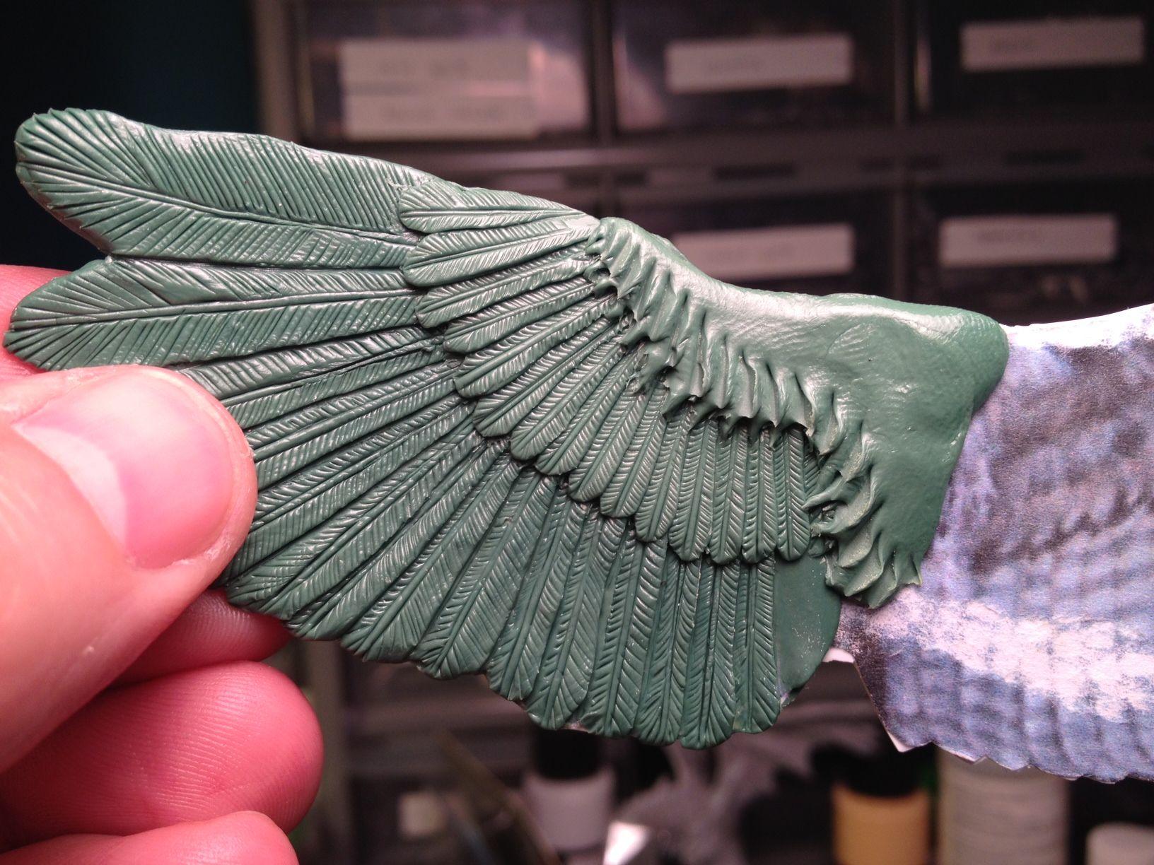 How to Sculpt Bird Wings Bird wings, Sculpting