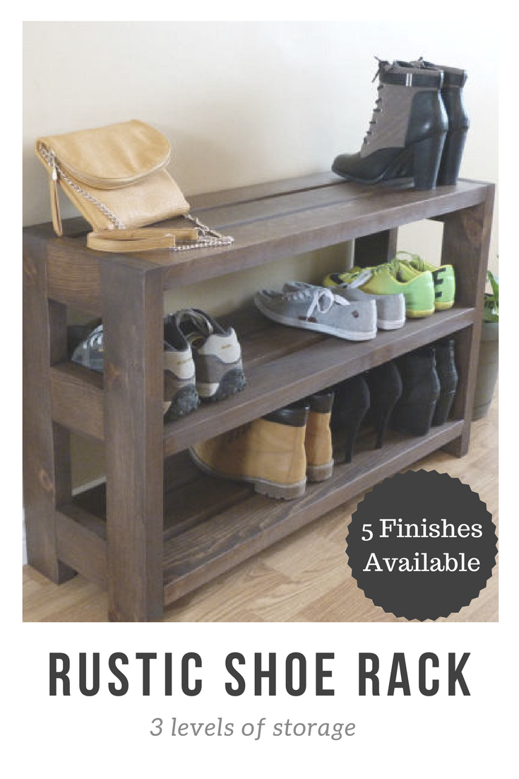 Made Of Solid Pine This Sturdy Rustic Style Entryway Hallway Or Mudroom 3 Shelves Shoe Rack Is Perfect For Any Home Rustic Shoe Rack Mudroom Decor Shoe Rack