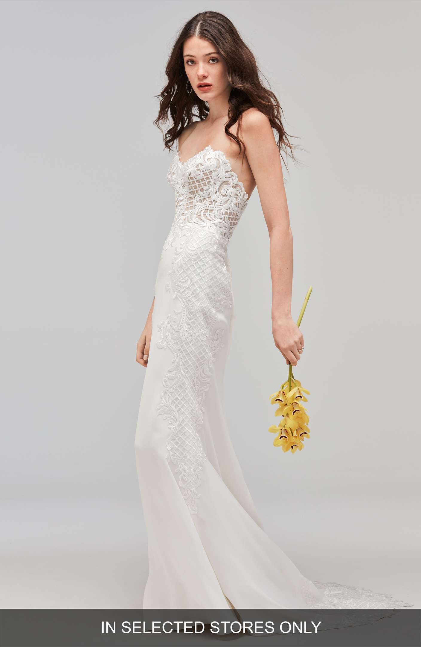 Blush by Hayley Paige Xenia Beaded Crepe Mermaid Gown