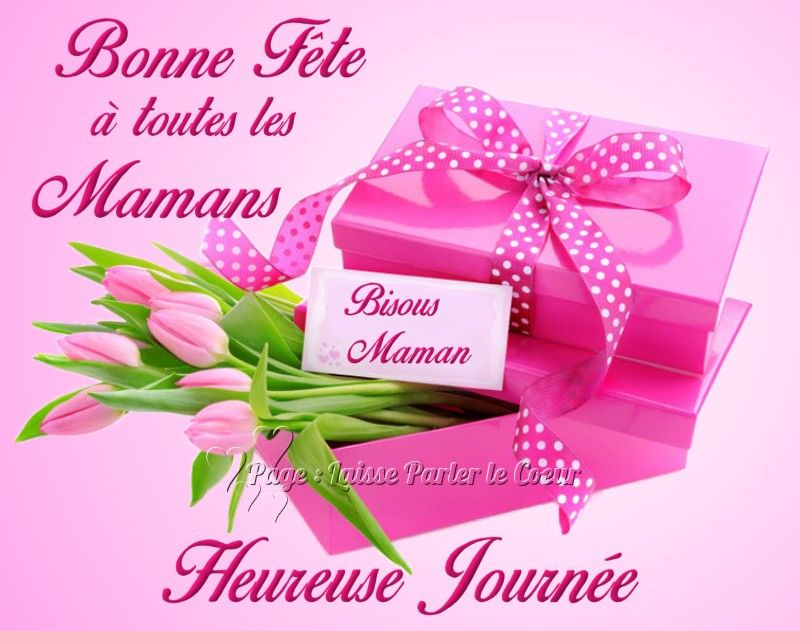 Bonne f te toutes les mamans bisous maman heureuse journ e fetedesmeres fleurs bouquet cadeau - Image fete des mamans ...