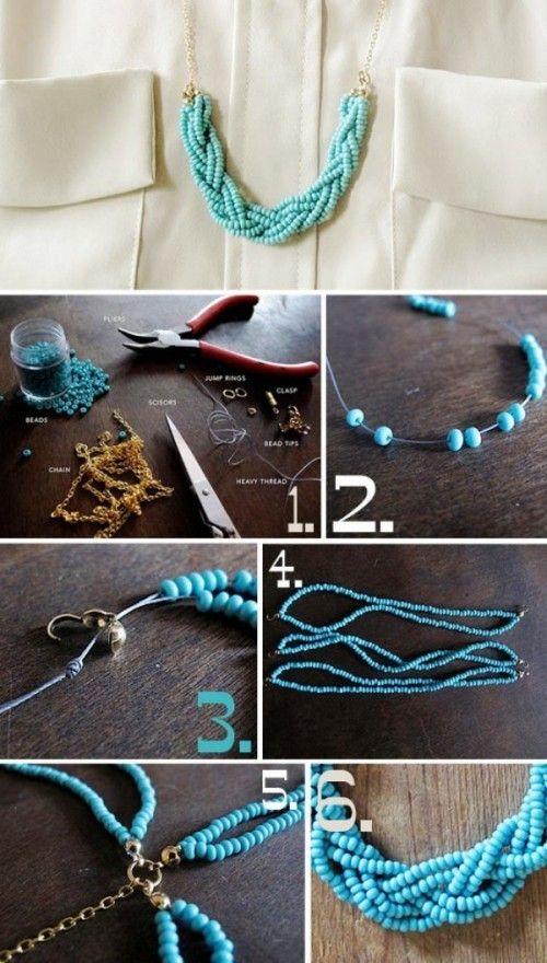 Hecho fácilmente con alambre y tela, haga joyas usted mismo – más de 20 instrucciones – decoración y decoración del hogar