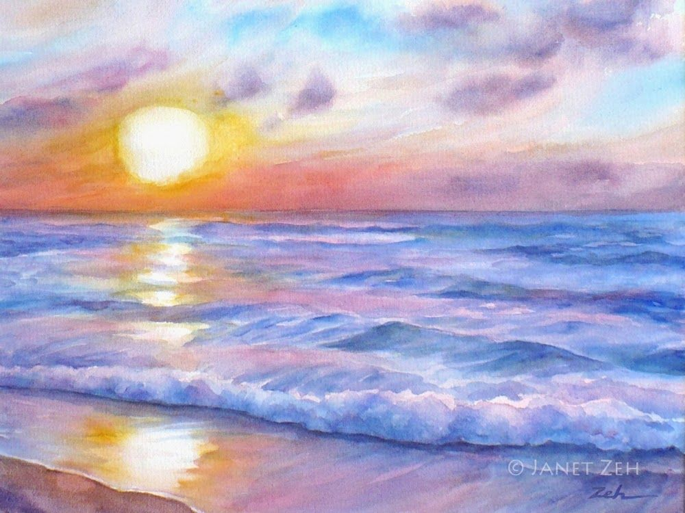 Ocean Sunset Beach Seascape Fine Art Print In 2020 Surf Art