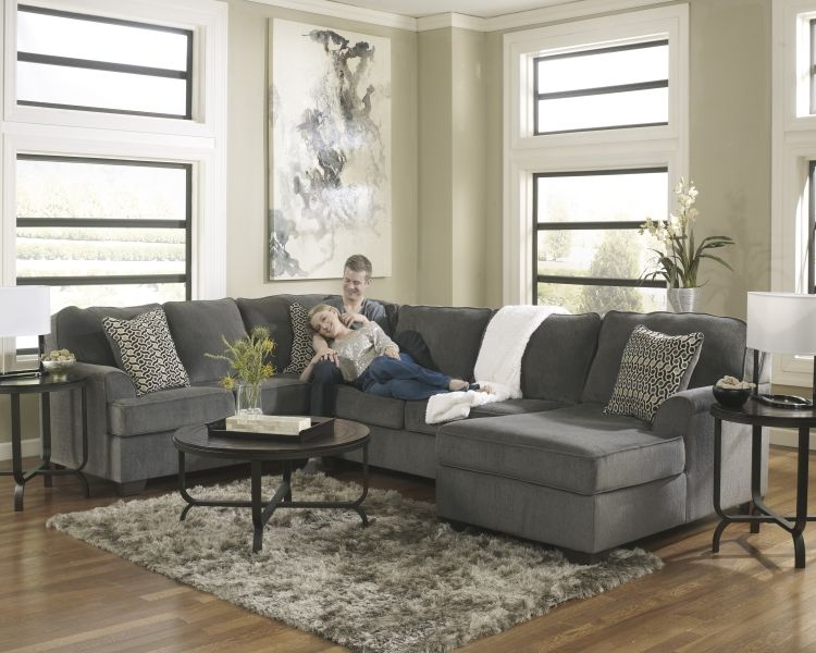 Smoke Three Piece Sectional from the Lacey Collection : taft furniture sectionals - Sectionals, Sofas & Couches