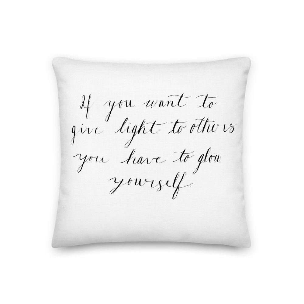 Inspirational Quote Pillow And Pillow Case Unique Home Decor Inspirational Quote Pillow And Pillow Case Pillow Quotes Personalized Pillow Cases Pillows