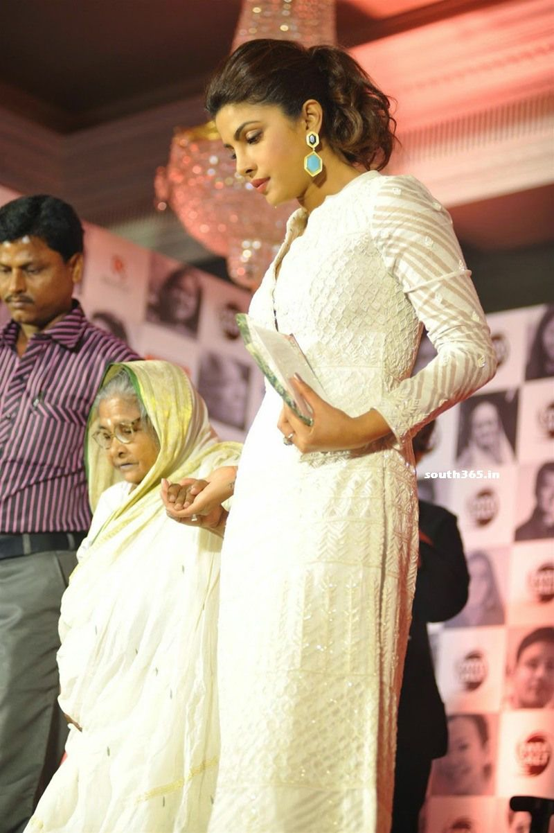 Priyanka Chopra In White Dress At Tata Salt Event In Mumbai.